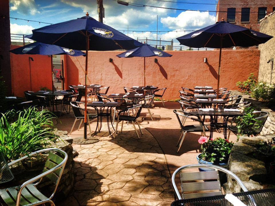 The beautiful outside patio of Lily's Dayton, located in Dayton, Ohio.