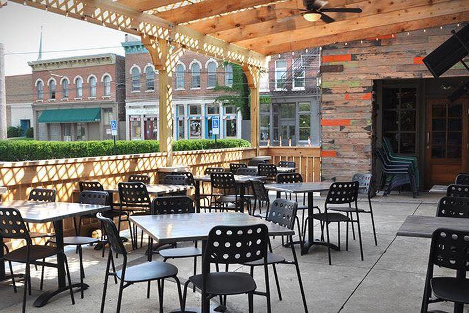 A photo of the outdoor dining at Wheat Penny Oven and Bar located in Dayton, Ohio.