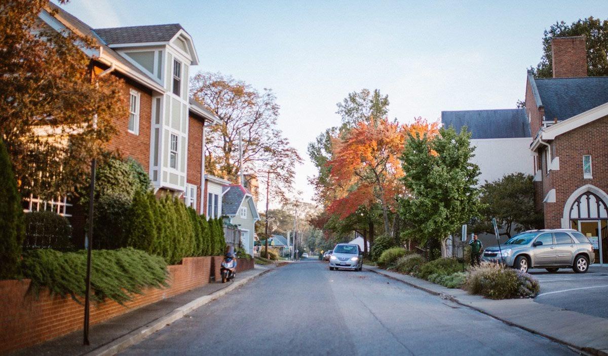 Neighborhood in Clintonville, Ohio.