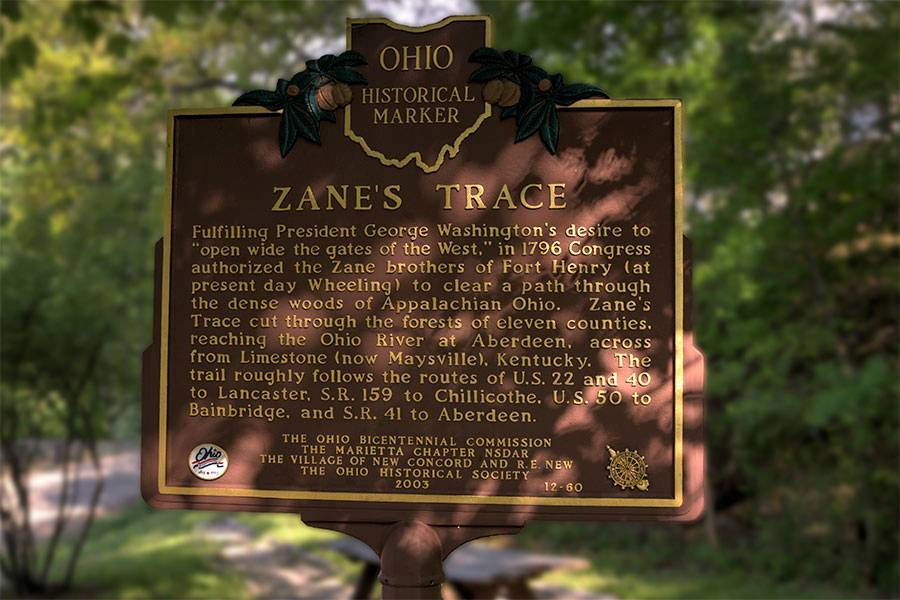 Zane's Trace in Fairfield County OH