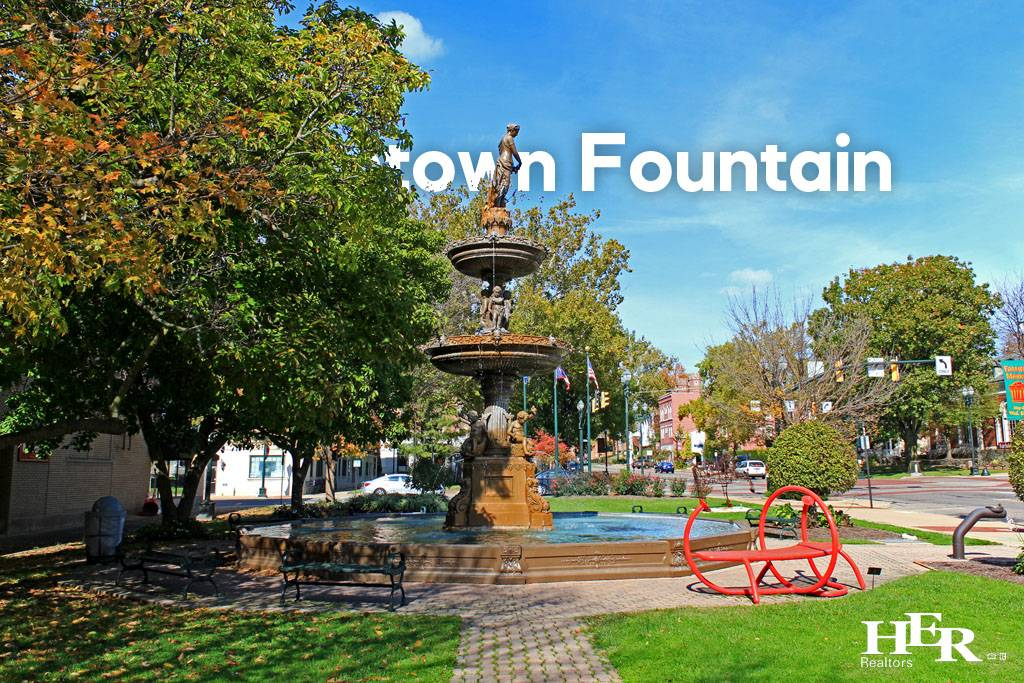 old city fountain downtown lancaster ohio