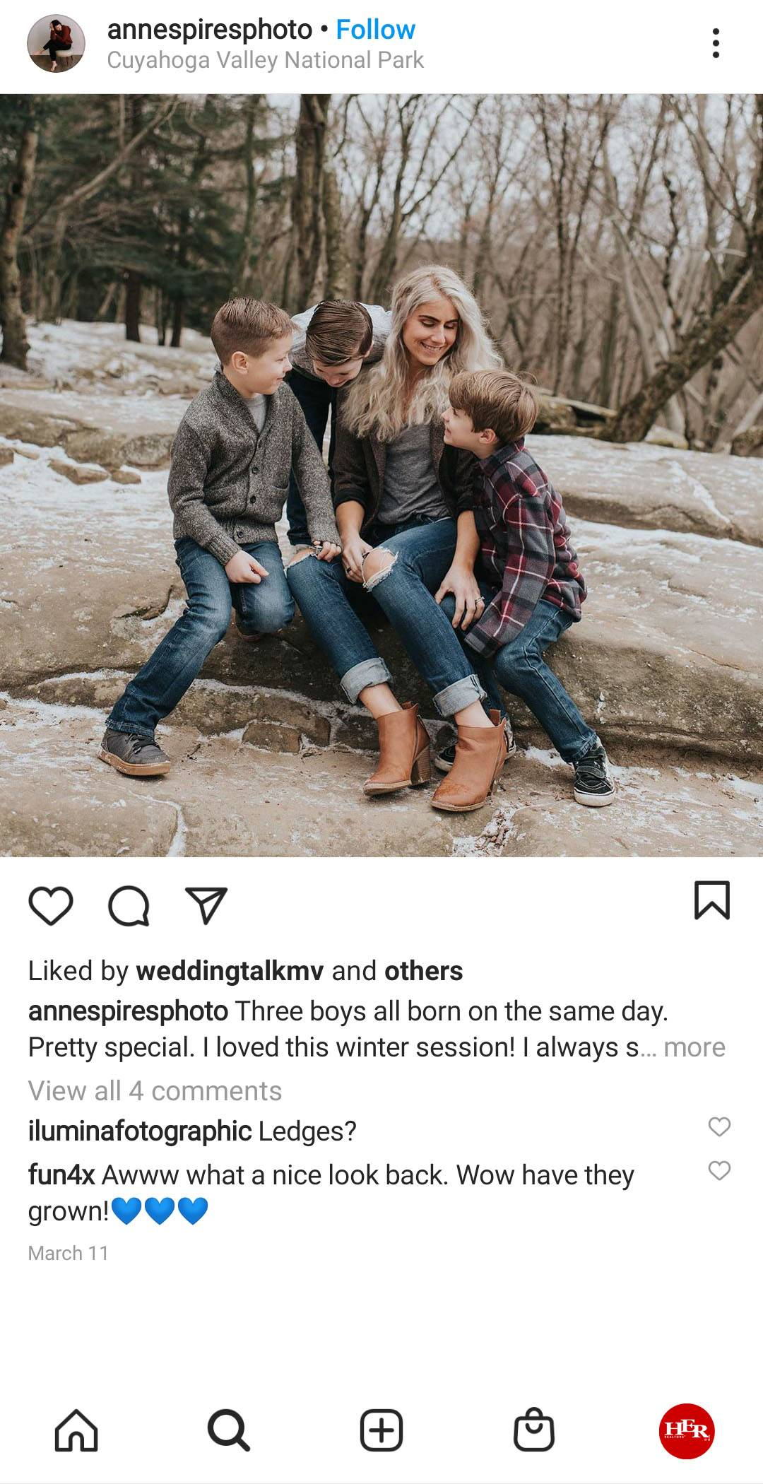 3 kids with a white hair women