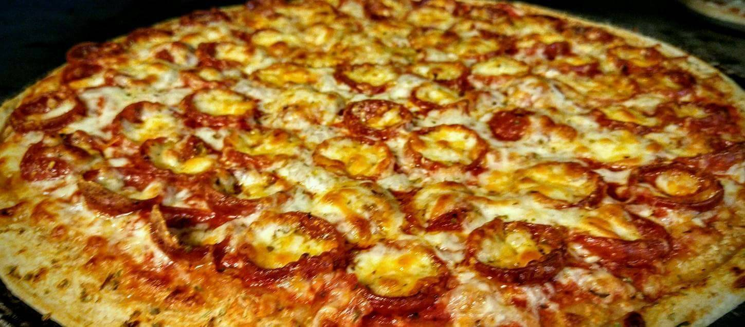 Pepperoni Pizza covered in cheese