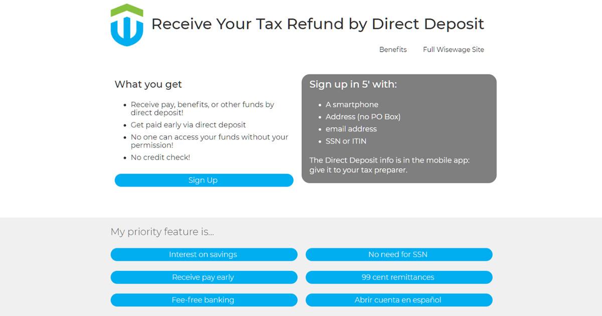 Direct Deposit Your Tax Refund