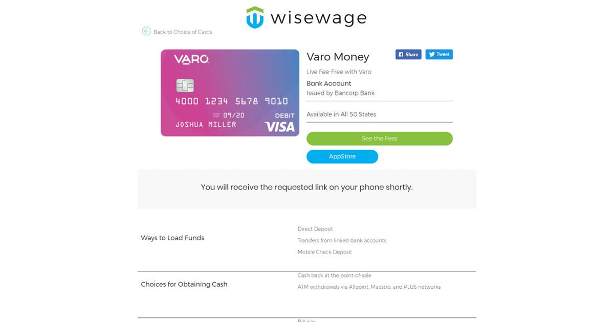 Varo Money Bank Account