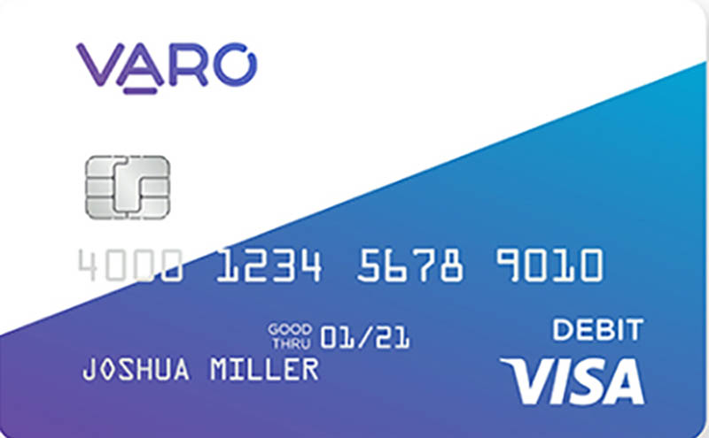 Varo Money bank account debit card