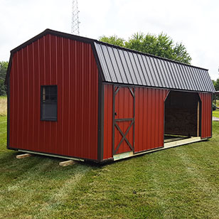 Red run-in shed