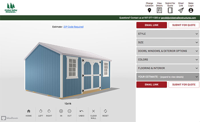 Shed and Barn Configurator