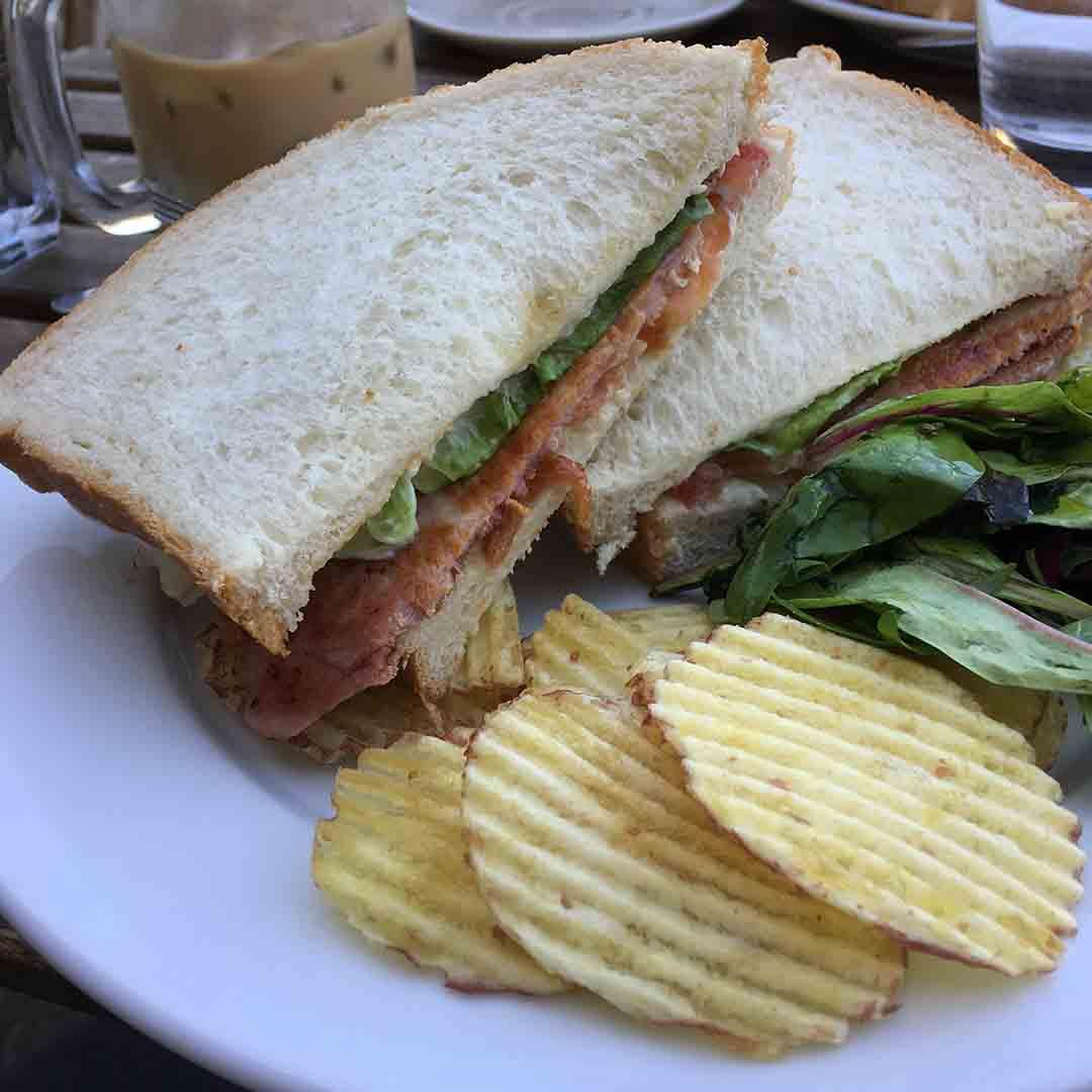 Bacon, Lettuce and Tomato Sandwich.