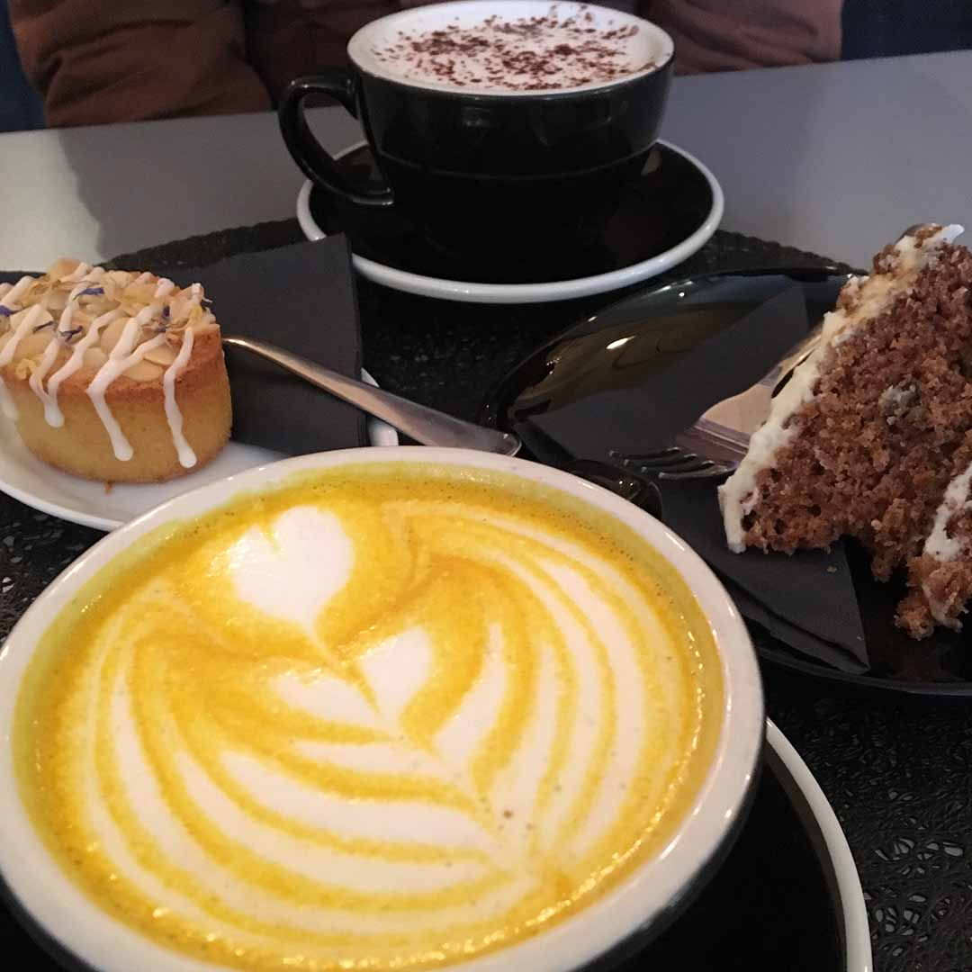 Chai Latte, Hot Chocolate and Cakes