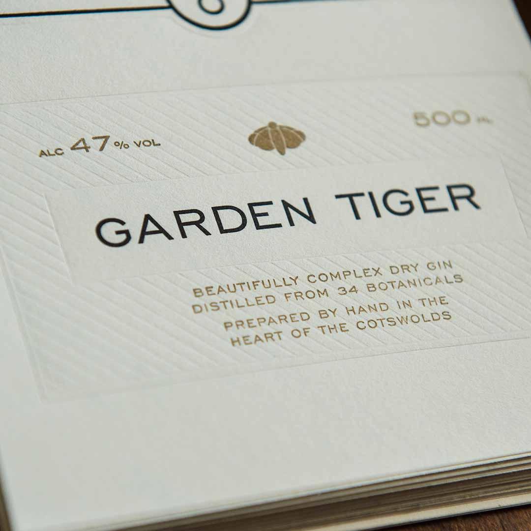 Garden Tiger Label