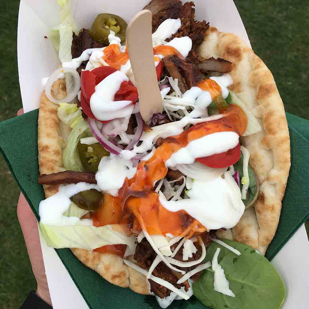 Kebab from Posh Kebab Co at Cheltenham Food Festival