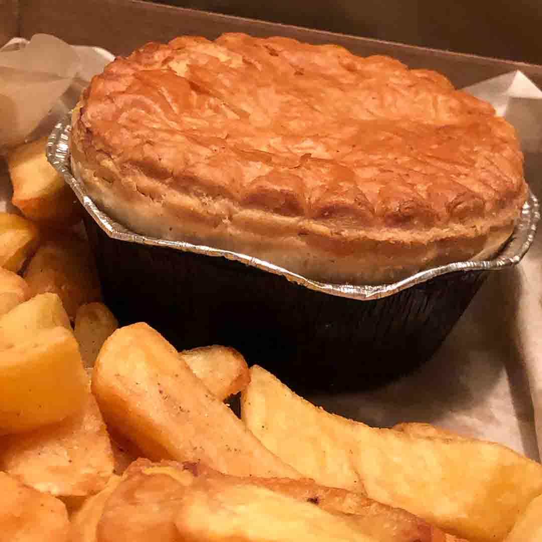 Pie and Chips from The Cotswold Chippy