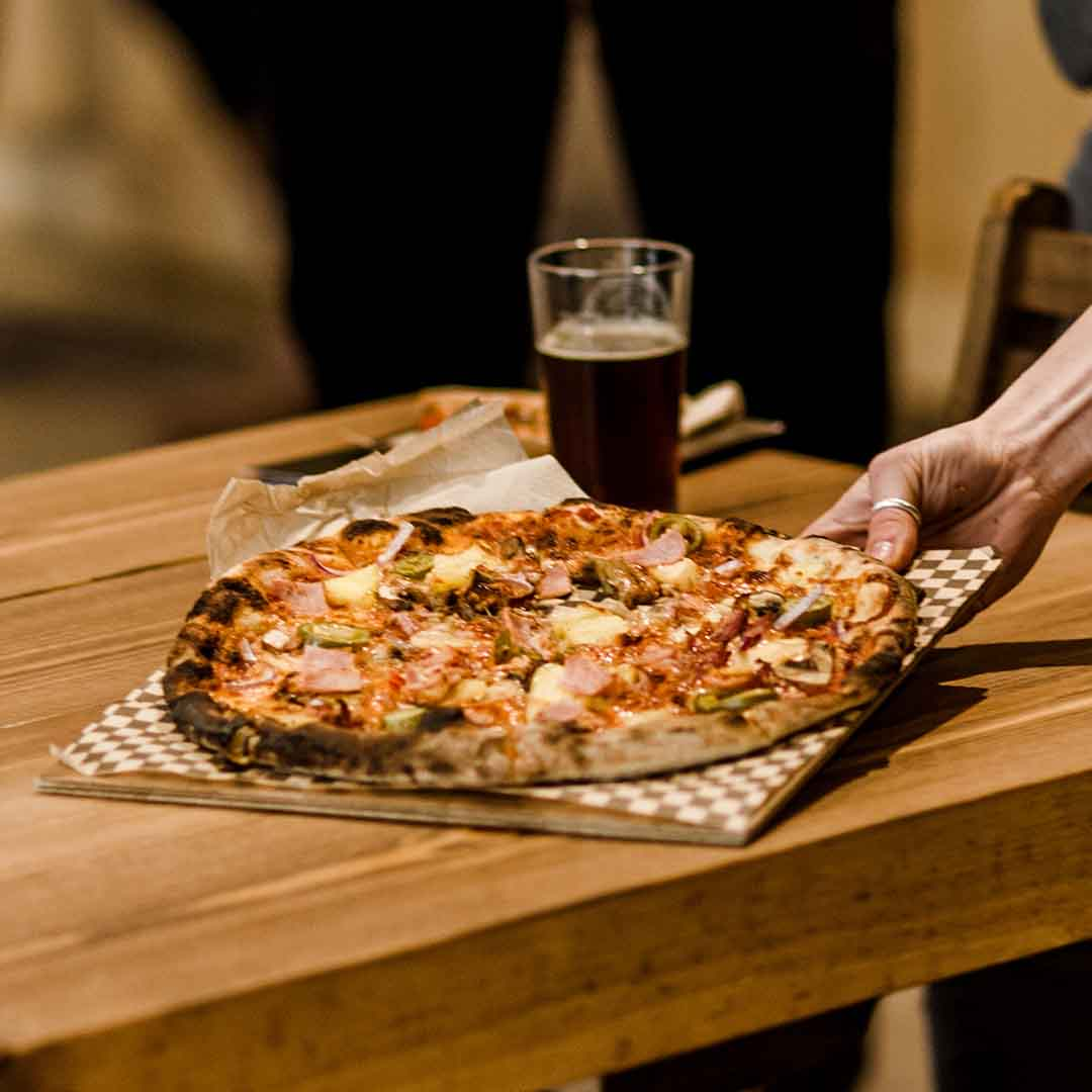 Velo Pizza in Stroud Brewery Taproom