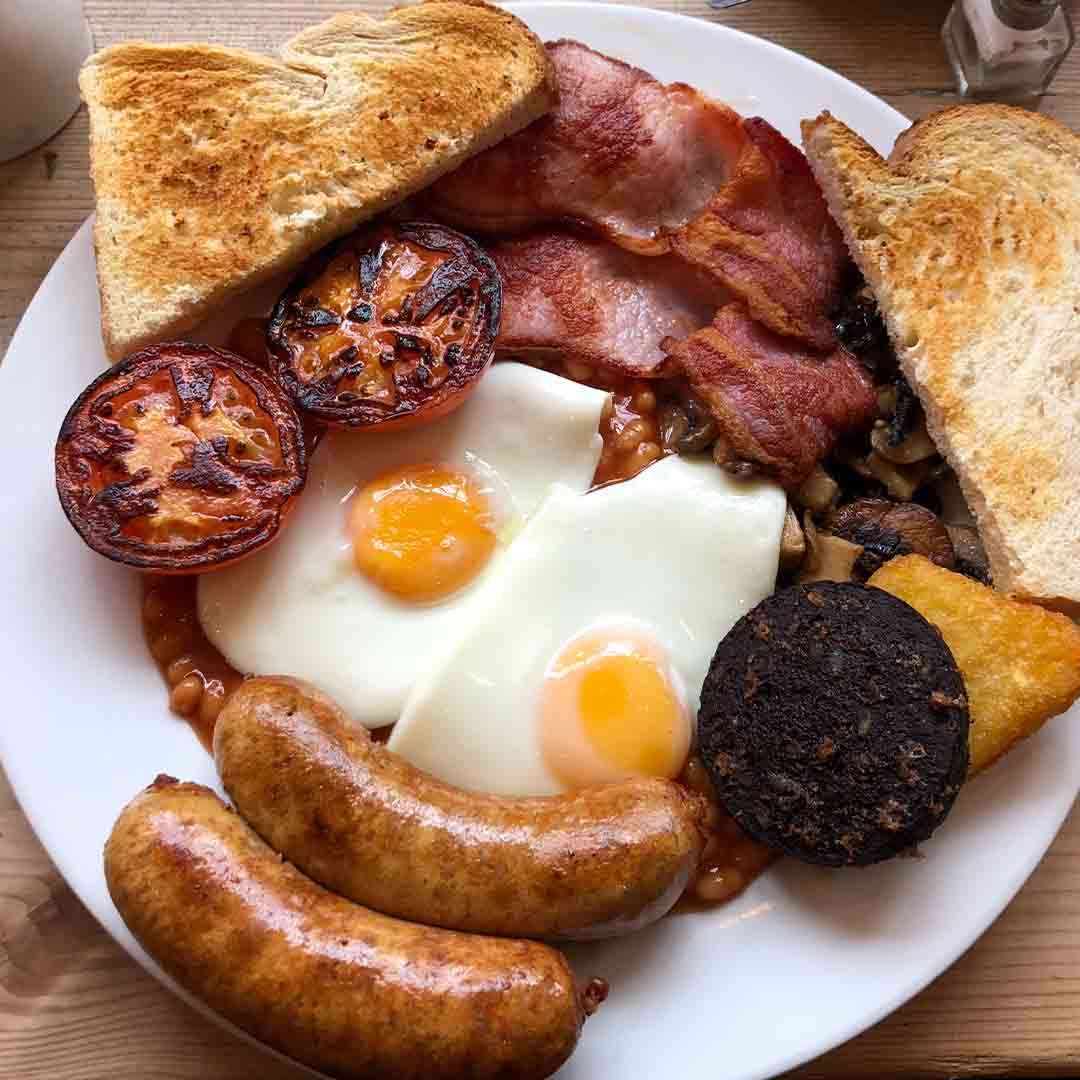 Curious Cafe Blacksmiths Full English Breakfast