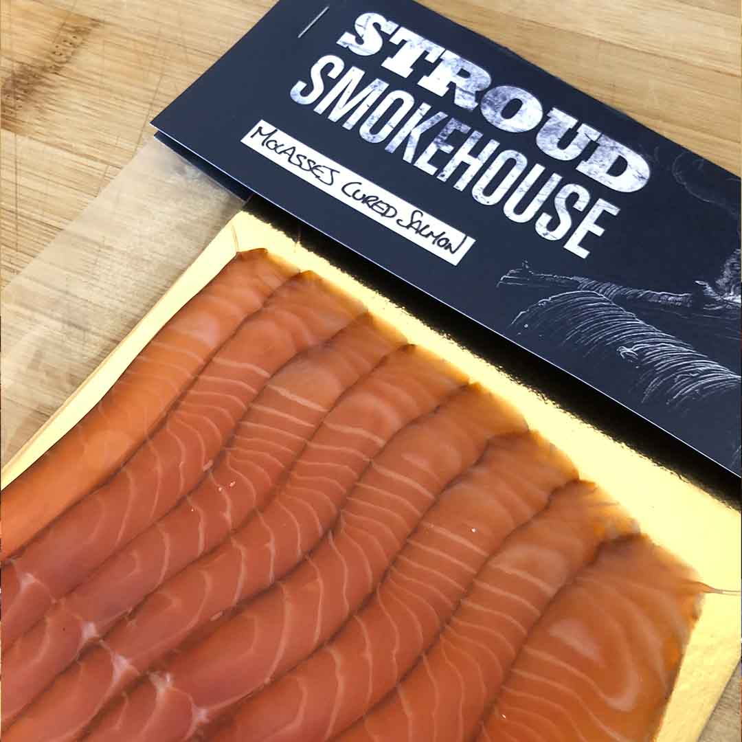 Molasses Cured Smoked Salmon from Stroud Smokehouse