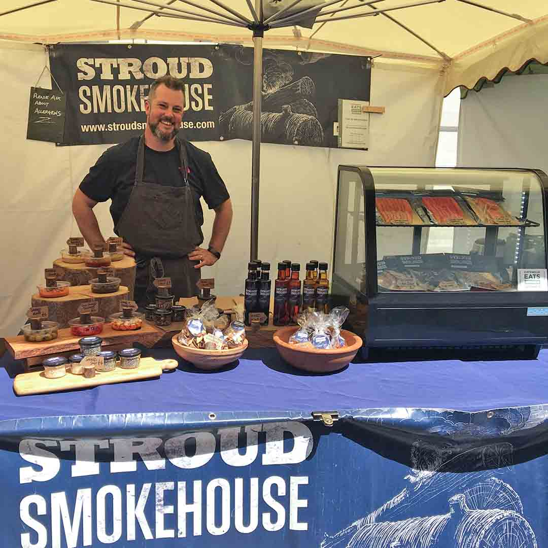 Ian Jones and the Stroud Smokehouse Market Stall