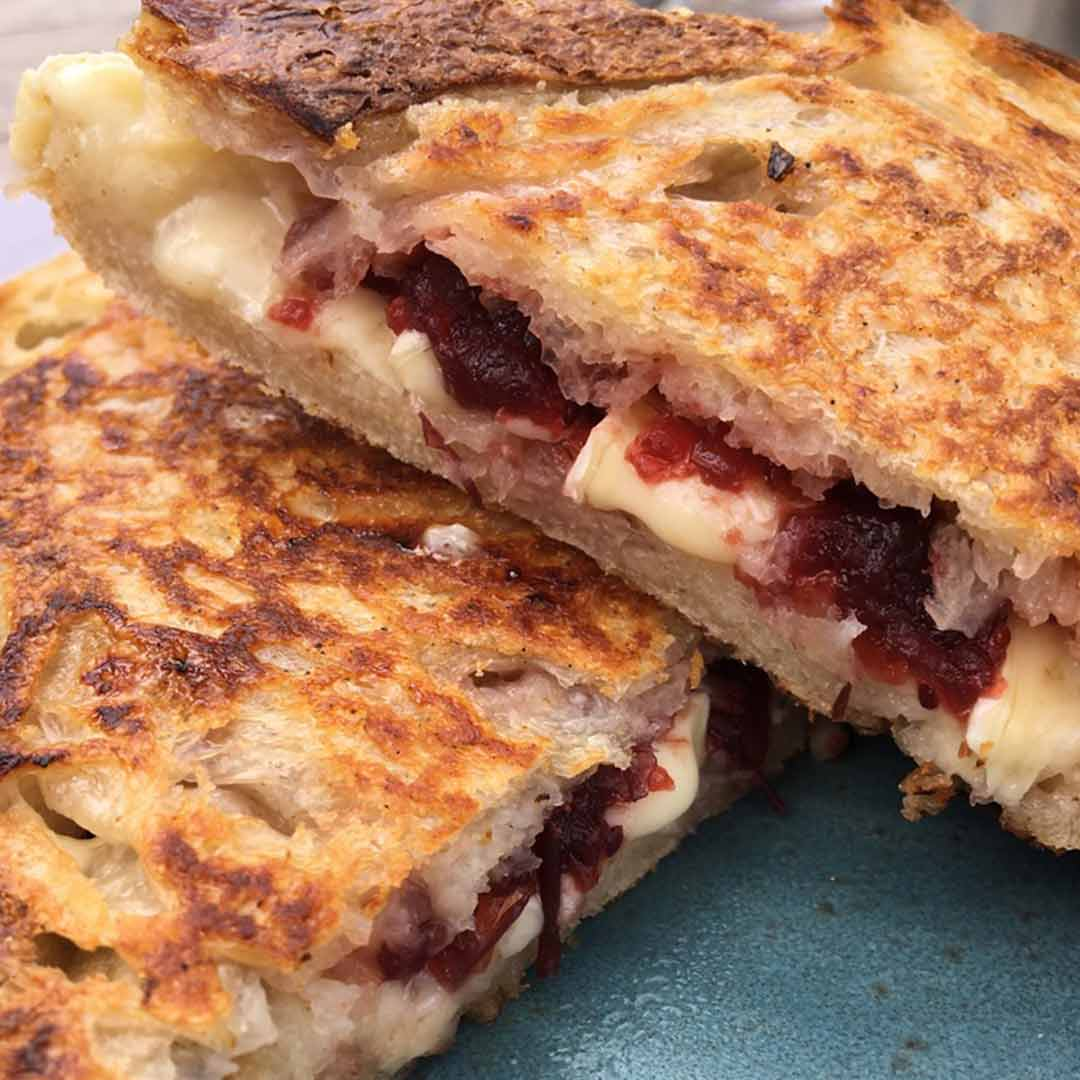 The Hive Brie Cranberry Toastie - Cotswold Eats