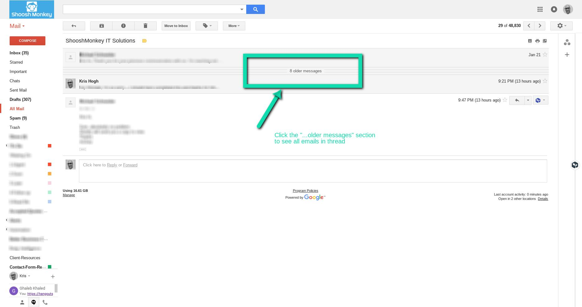 expand all messages in the gmail conversation