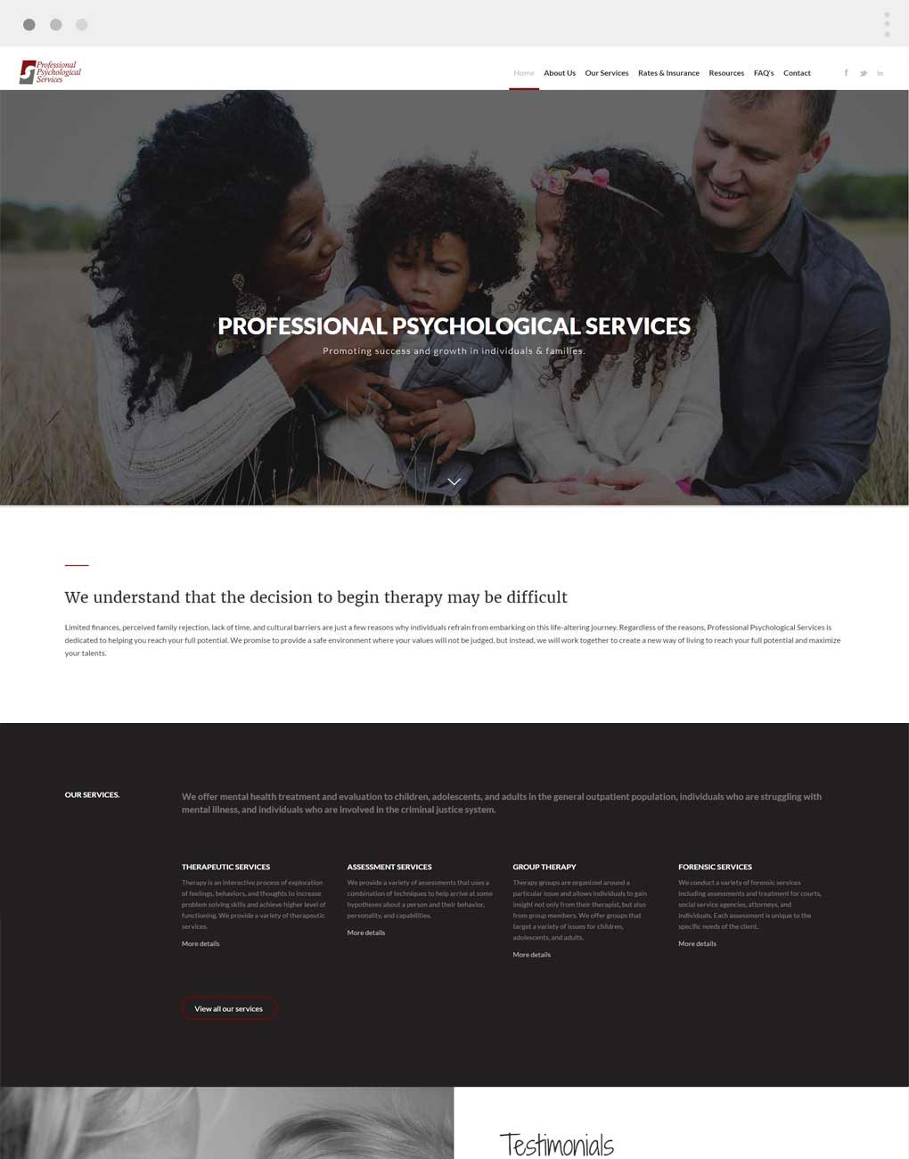 Professional Psychological Services
