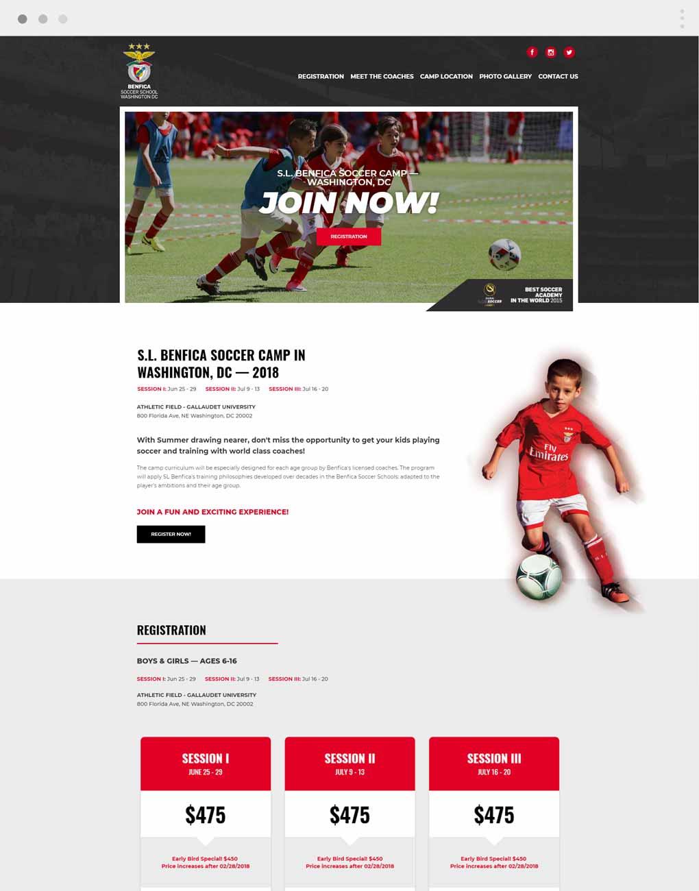 Benfica Soccer Camp