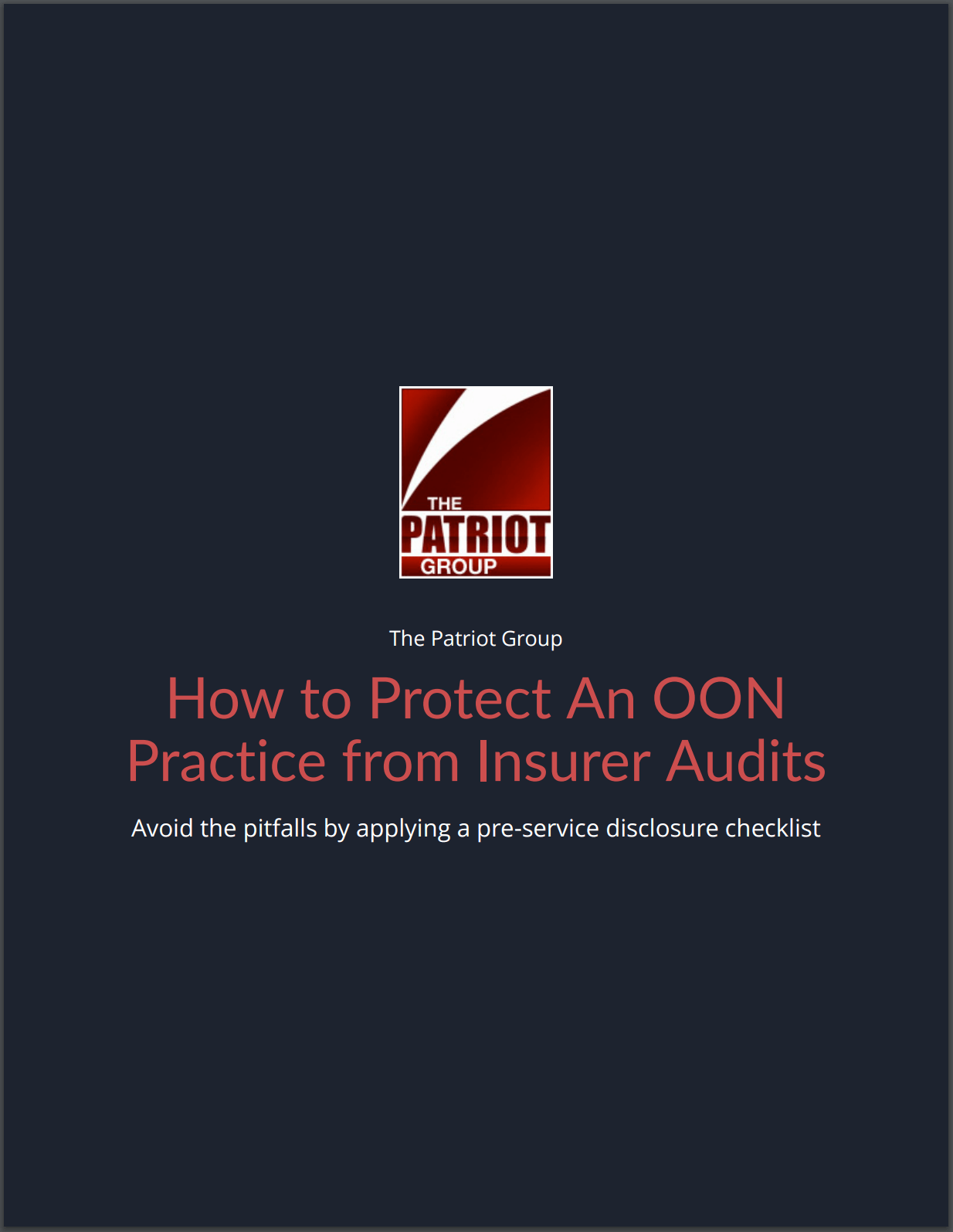 How To Protect Your Out-of-Network Practice from Insurer Audits