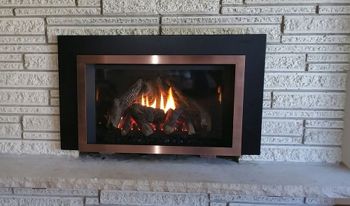 E33 Copper Fireplace Insert