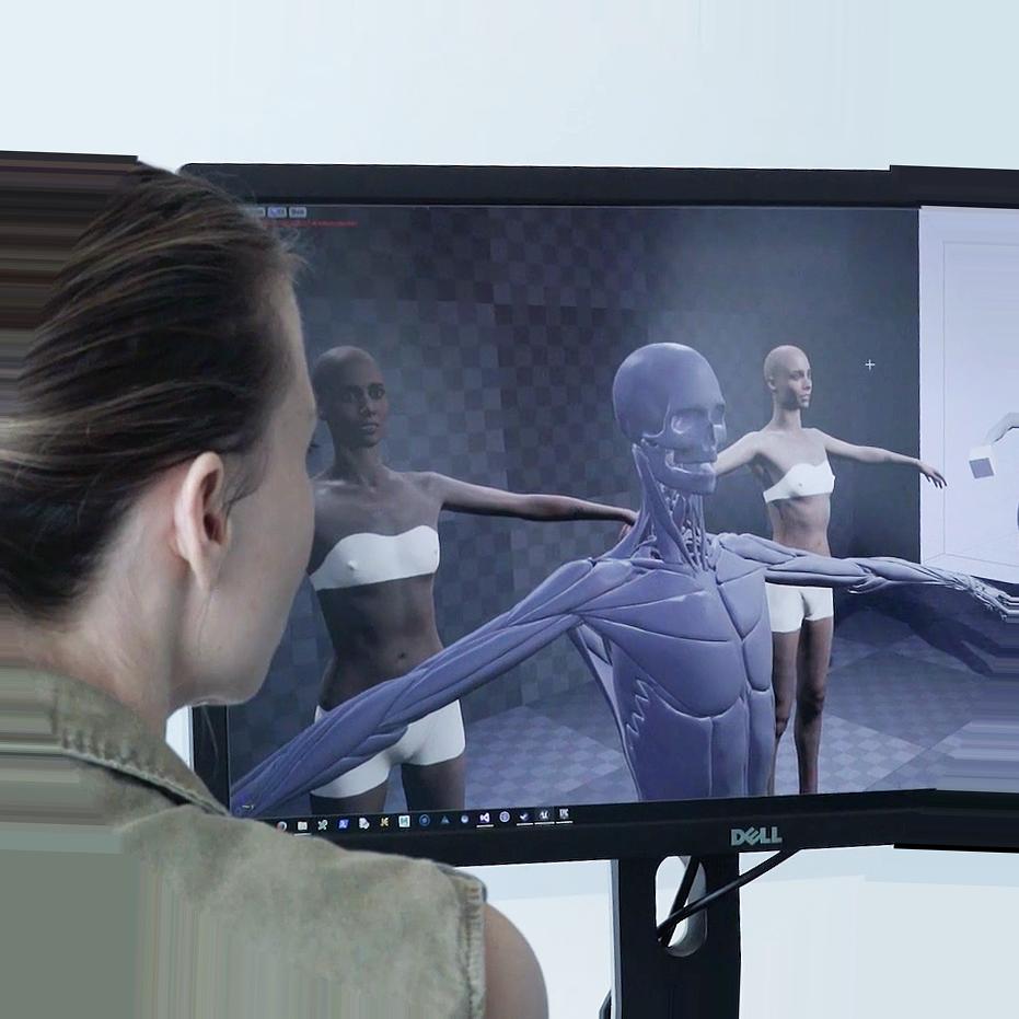 Simulation body image