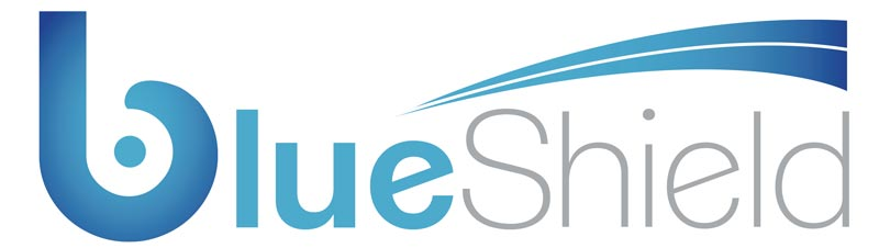 logo of Blueshield Lens, distributed by Optical Supply Singapore