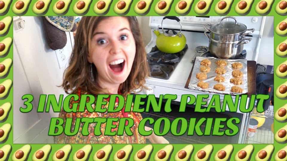 How to Make Three Ingredient Peanut Butter Cookies with Avocadamama