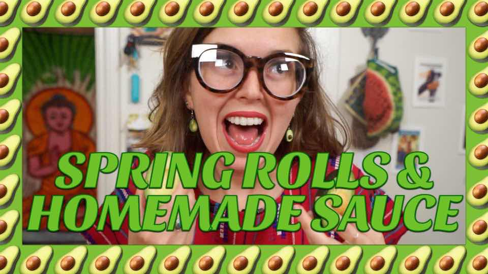 How to Make Spring Rolls and Homemade Peanut Sauce with Avocadamama