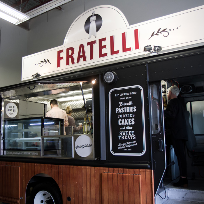 Food truck design for Fratelli, by Flipside Creative.