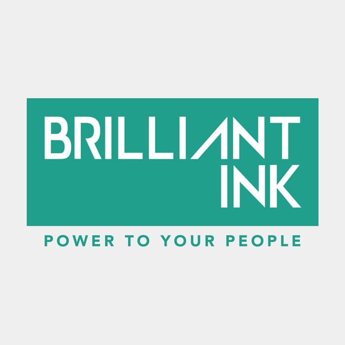 Logo design for Brilliant Ink, by Flipside Creative.