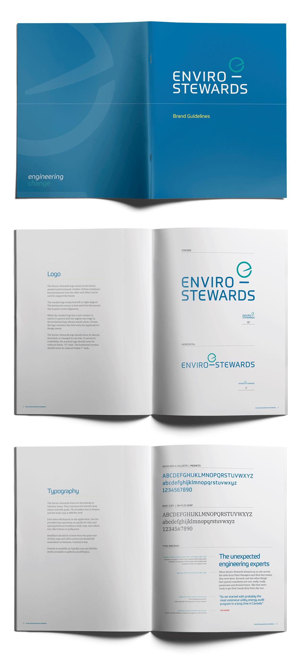 Enviro-Stewards brand design by Flipside Creative