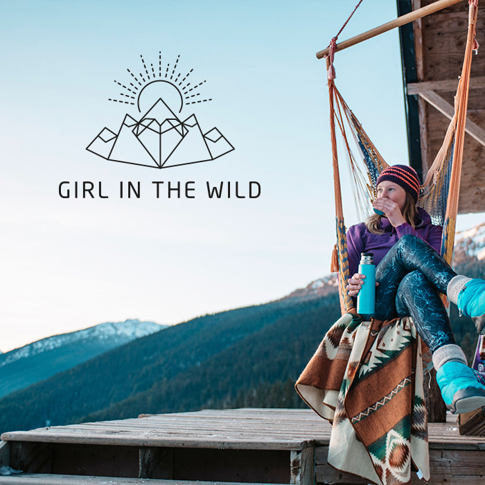 Girl In The Wild logo design by Vancouver-based creative collective, Flipside Creative.