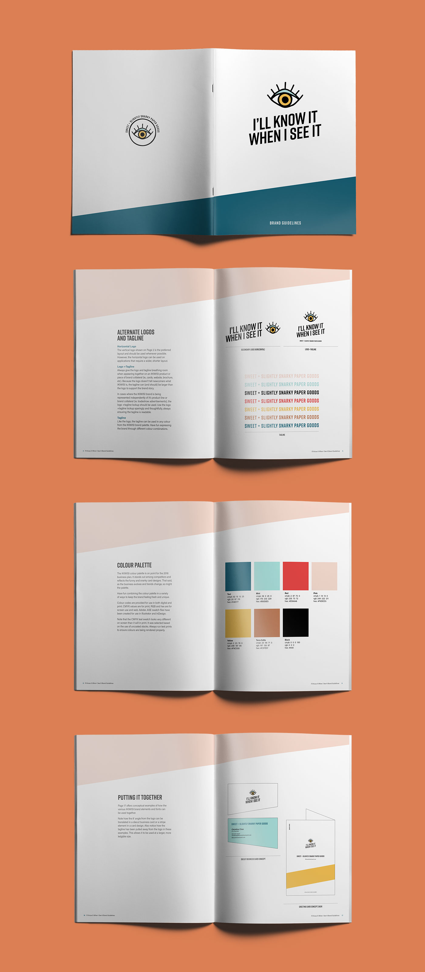 Brand guidelines for I'll Know It When I See It, by Vancouver-based marketing collective Flipside Creative.