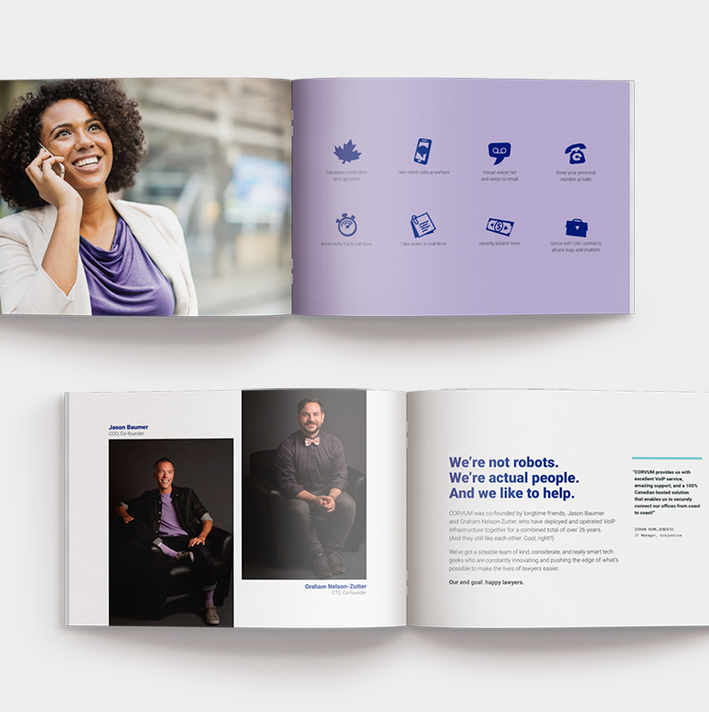 Brochure design by marketing collective, Flipside Creative.