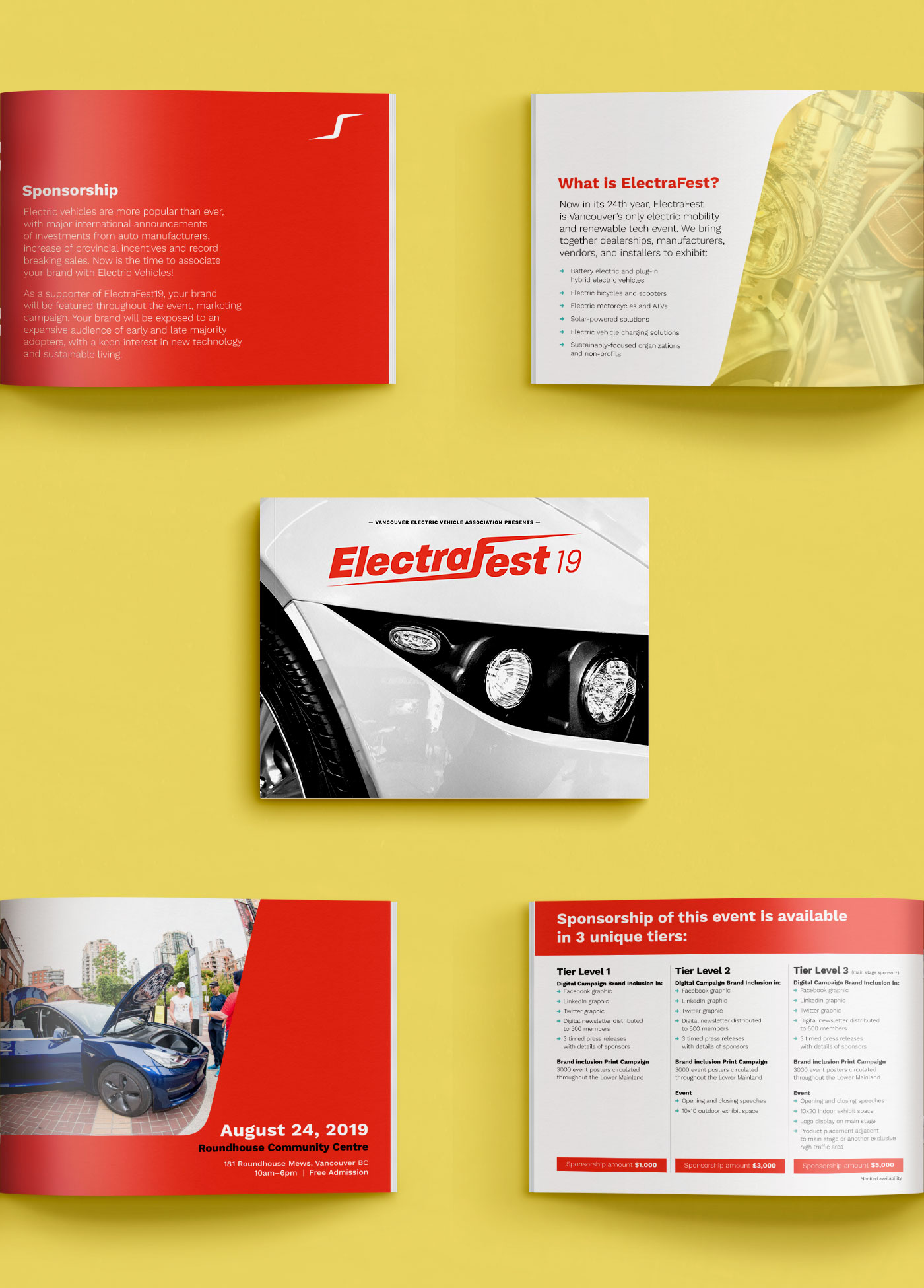 ElectraFest sponsorship package layout and design by marketing collective, Flipside Creative.