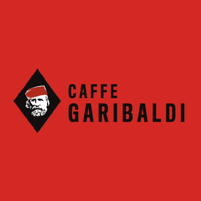 Caffe Garibaldi logo design by Vancouver-based creative collective, Flipside Creative.