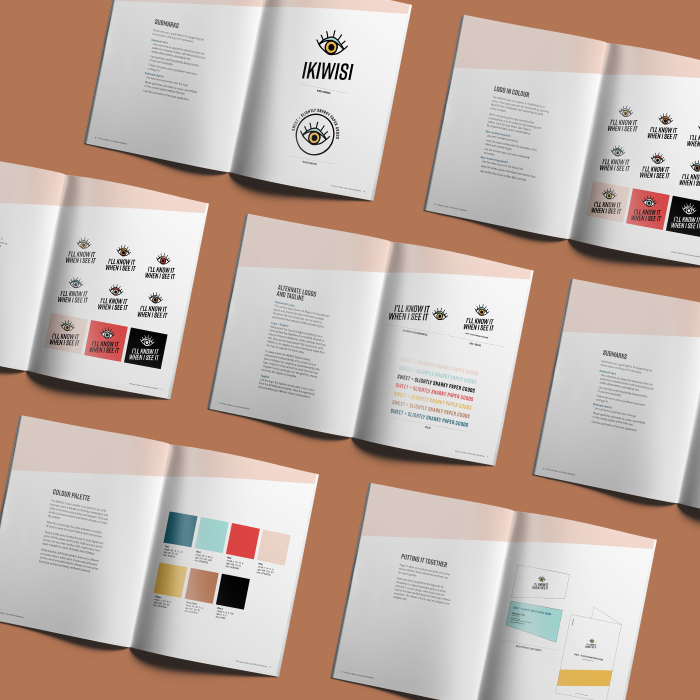 Brand design and social media strategy and templates for Vancouver-based paper goods company, I'll Know It When I see It. Designed by Flipside Creative.
