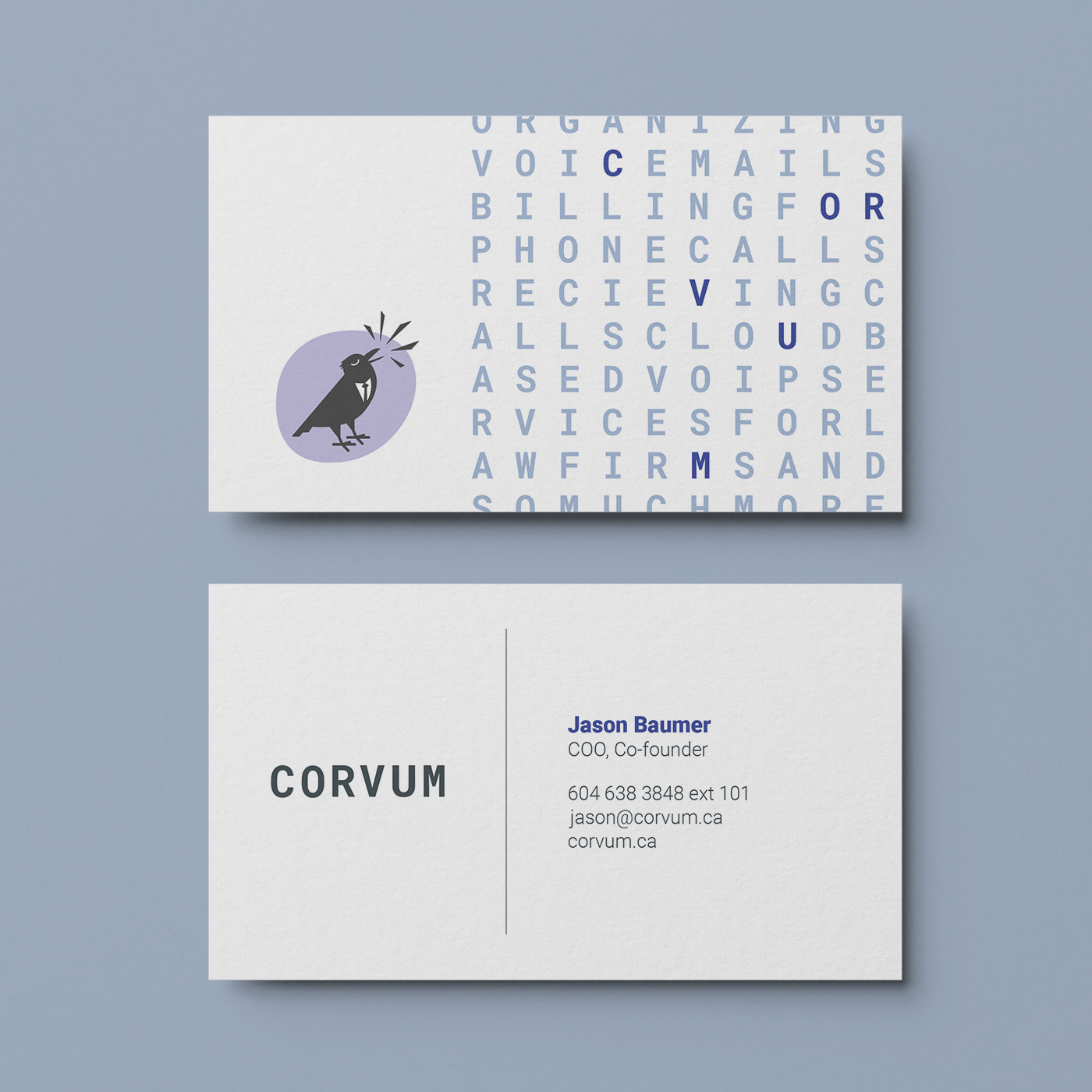 Brand design and strategy for CORVUM by Flipside Creative.