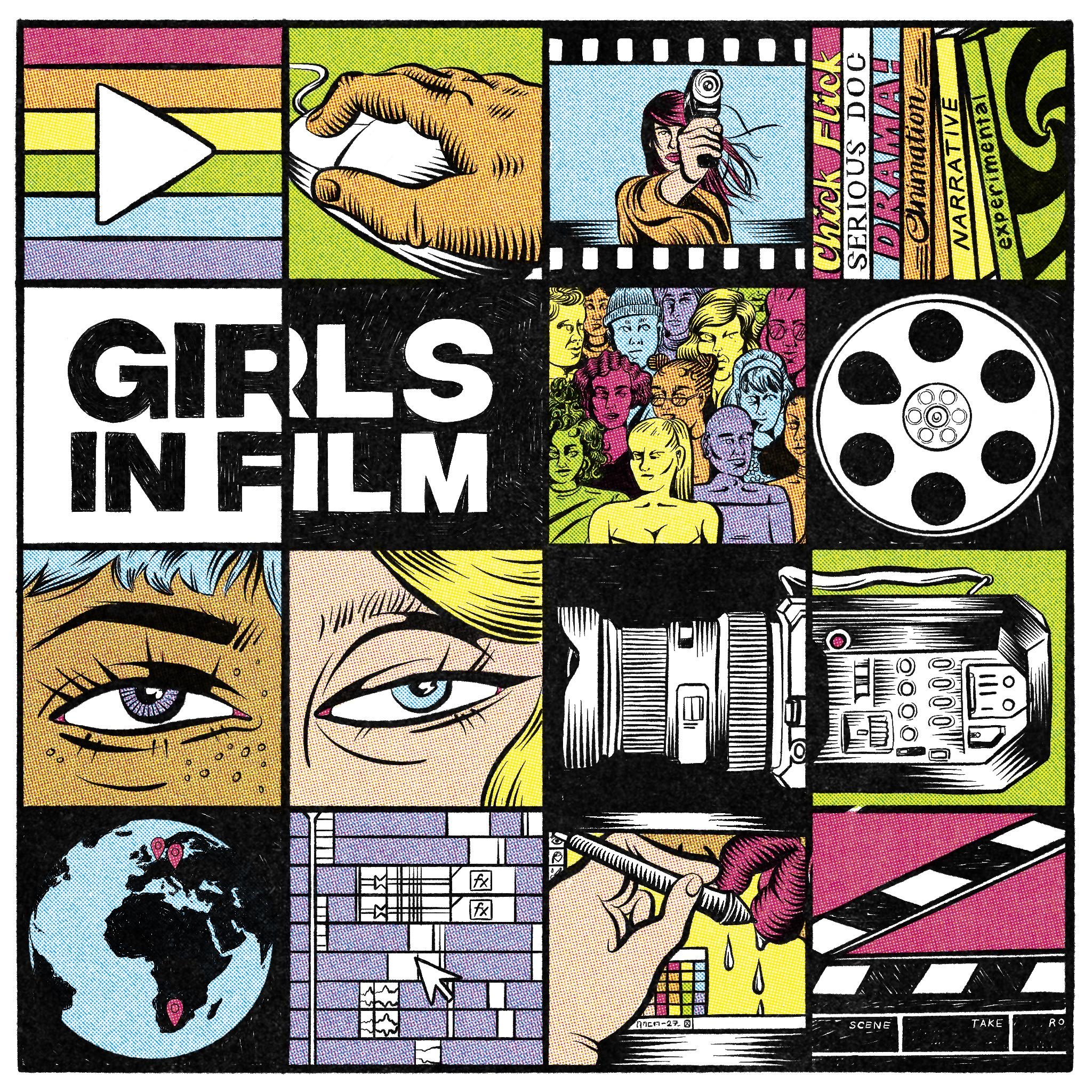 Girls in Film illustration