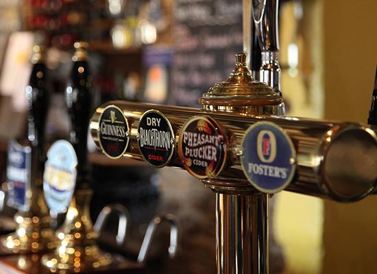 Photo of bar taps.