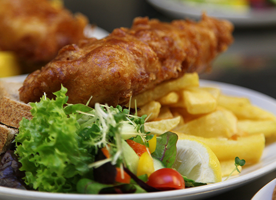 Photo of fish & chips.