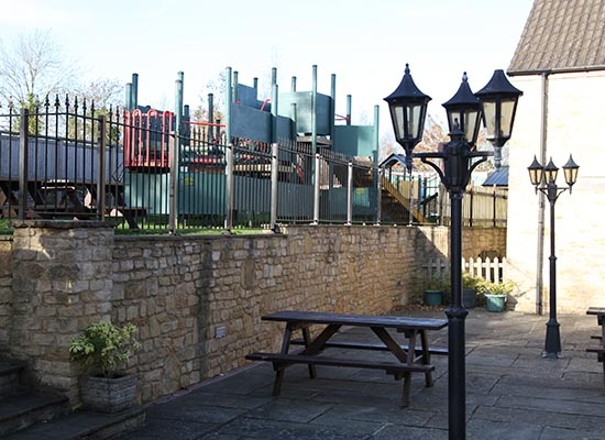 Photo of outdoor play park.