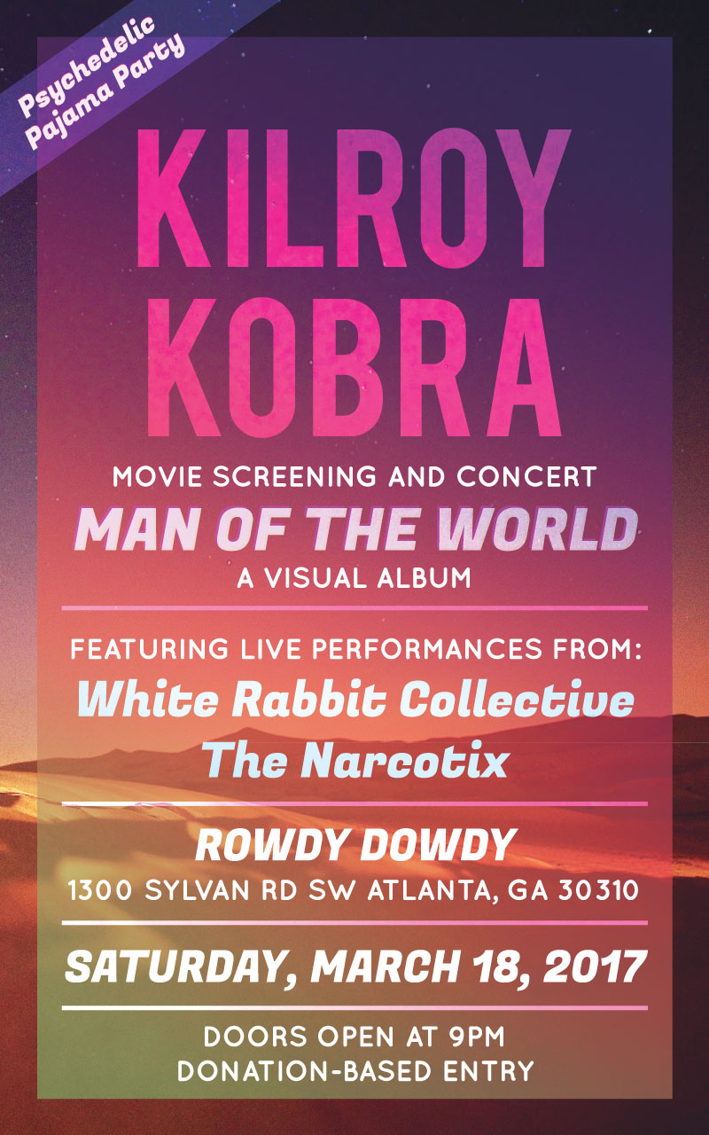 atlanta band kilroy kobra event poster design