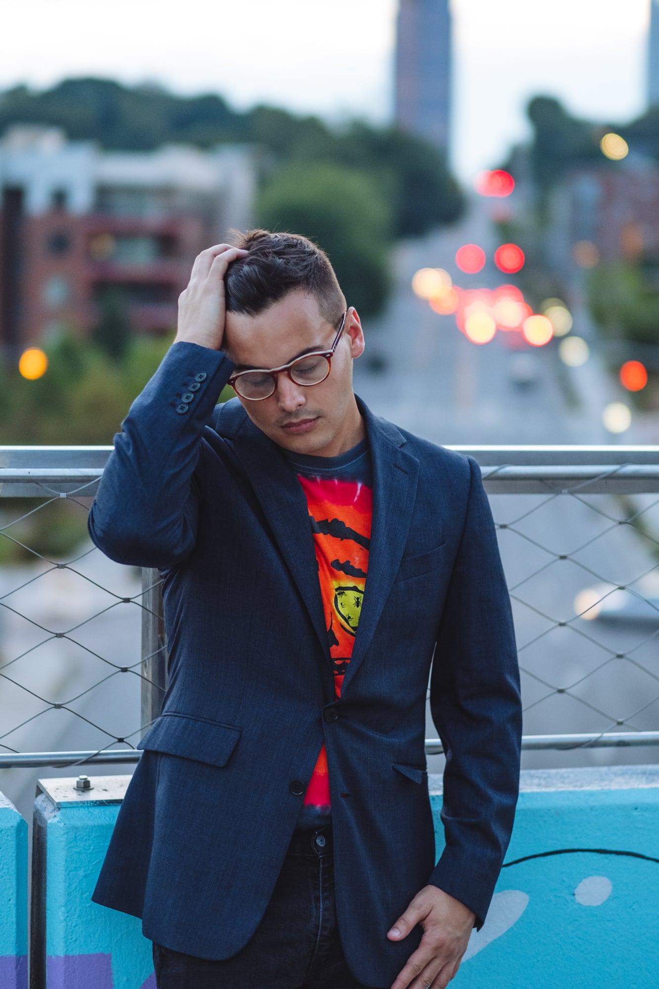 photo of a man on a bridge in Atlanta