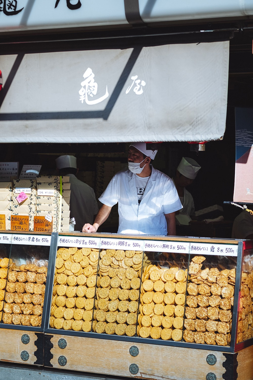 food stall owner in Tokyo