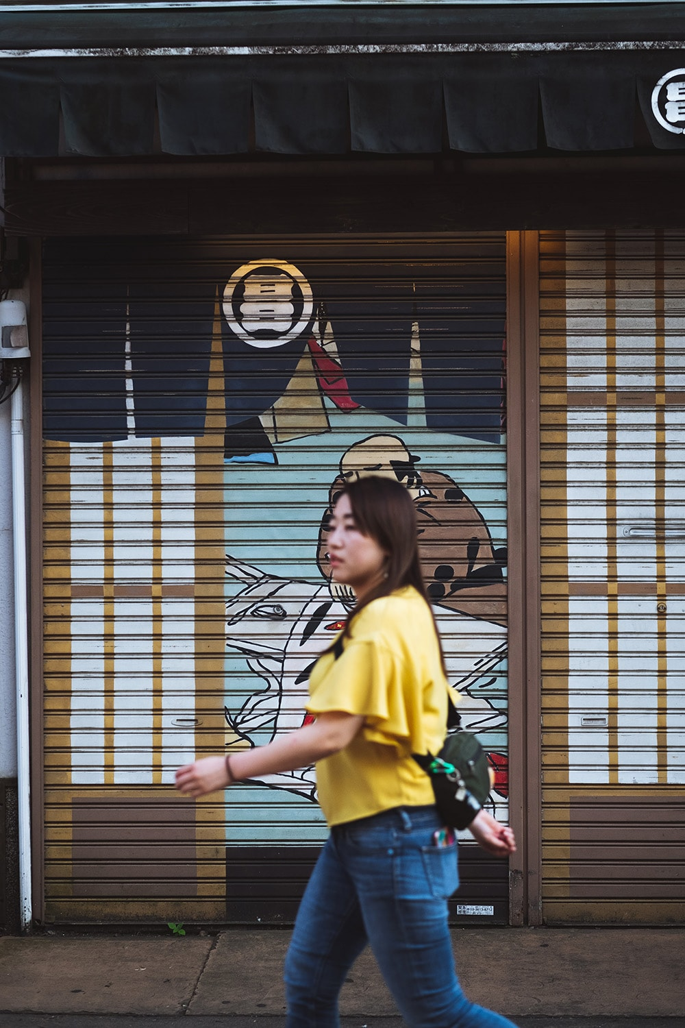 woman walking in Japan