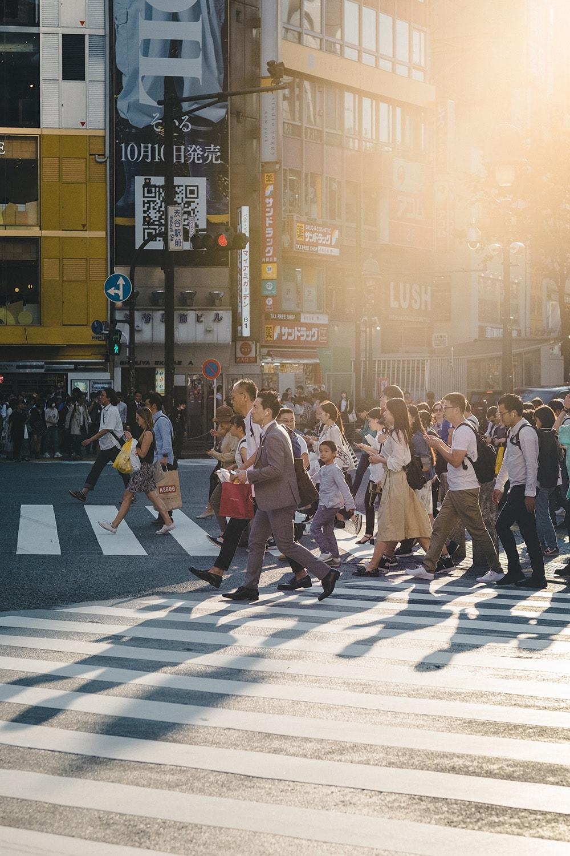 busy crosswalk in Tokyo